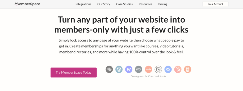 MemberSpace Home Page