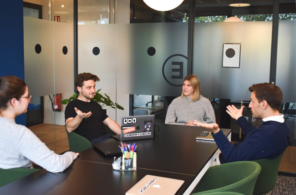 ecommerce business team meeting