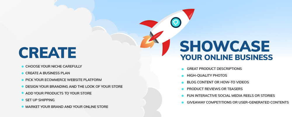 steps to showcase online business